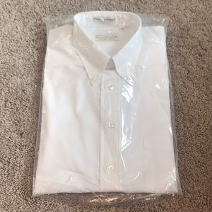 New! Men's Norm Thompson Pinpoint Oxford Popover